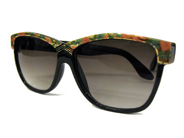 Black vintage sunglasses with flowers