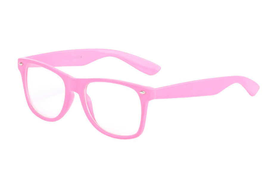 Pink sunglasses in wayfarer model