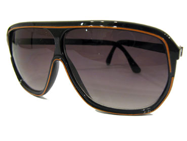 Brown aviators with orange