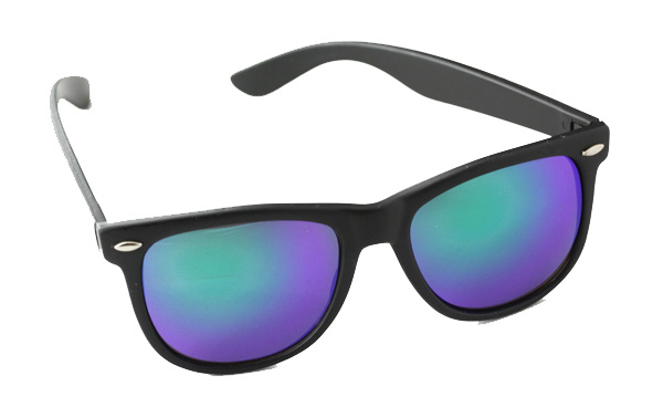 Wayfarer sunglasses in matte with multicoloured lenses