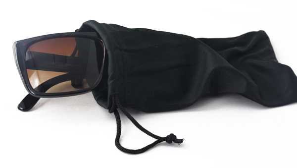 Black single case for glasses and sunglasses - sunlooper.co.uk - billede 2