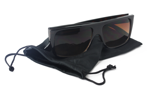 Black single case for glasses and sunglasses - sunlooper.co.uk - billede 3