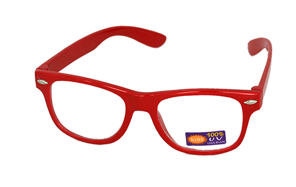 Non prescription child glasses, red