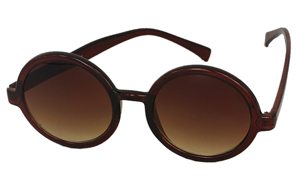Orange-brown round sunglasses