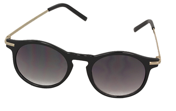 Black feminine round sunglasses