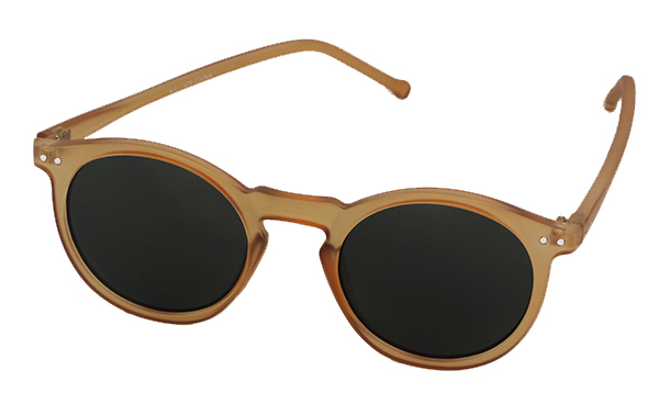 Matte gold sunglasses in round design