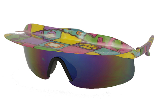 Ski / racer sunglasses with shade