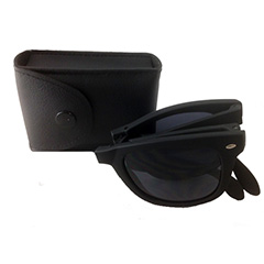 Foldable sunglasses with black matte wayfarer design - Design nr. 3192