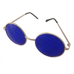 Big Lennon sunglasses with blue lenses - Design nr. 3193