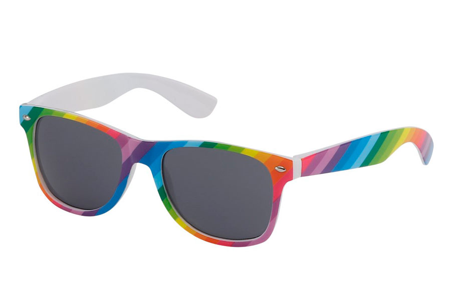 Rainbow-coloured wayfarer sunglasses - Design nr. 3198