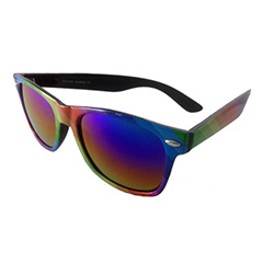 Wayfarer sunglasses with all the colours of the rainbow