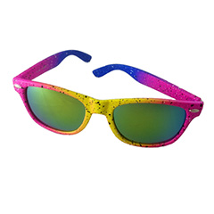 Neon sunglasses with spraypaint look