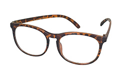 Round tortoiseshell non-prescription glasses. Unisex model - Design nr. 3018