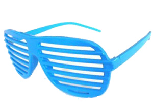 Light blue shutter shades