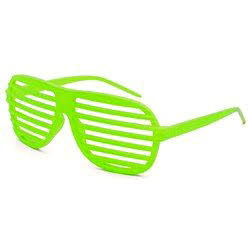 Light green / neon green shutter shades