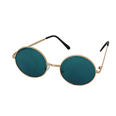 Round Lennon sunglasses with turquoise lenses - Design nr. 1001