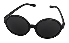 Round black sunglasses in large design
