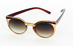 Light brown / orange sunglasses in round design - Design nr. 1023