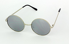 Silver Lennon sunglasses with mirror lenses