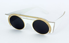 Exclusive, special sunglasses in white - Design nr. 1043
