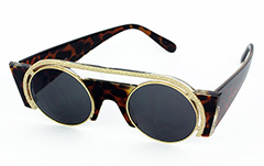 Exclusive, special sunglasses in tortoiseshell with metal - Design nr. 1046