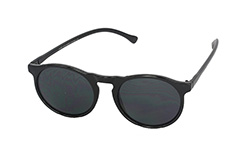 Round black shiny sunglasses - Design nr. 1054