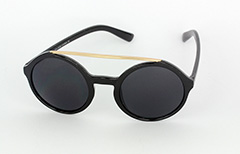 Large round sunglasses in black - Design nr. 1058