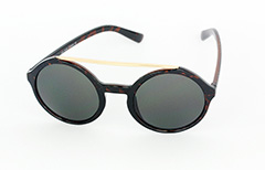 Large round sunglasses in dark tortoiseshell - Design nr. 1059