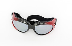 Driving glasses in black and red with elastic - Design nr. 1076