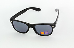Kids sunglasses in black wayfarer look - Design nr. 1083