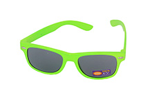 Kids sunglasses in green wayfarer look - Design nr. 1086