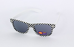 Sunglasses for children in checkered black and white - Design nr. 1087