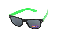 Black / neon green kids sunglasses - Design nr. 1093