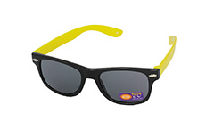 Sunglasses for children in black with yellow arms - Design nr. 1095