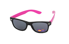 Sunglasses for children in black with pink arms - Design nr. 1096
