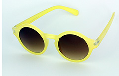 Round modern bright yellow sunglasses in modern design - Design nr. 1105