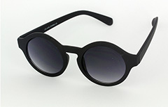 Round modern black sunglasses in modern design - Design nr. 1106