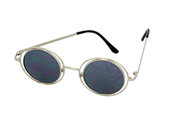 Lovely round silver Lennon sunglasses  - Design nr. 1112
