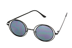 Lovely round black Lennon sunglasses  - Design nr. 1115