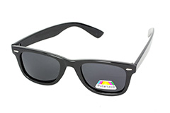 Black polaroid sunglasses in wayfarer design - Design nr. 1122