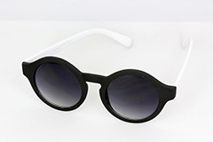 Matte black round sunglasses - Design nr. 1126