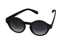 Matte black round sunglasses in simple design - Design nr. 1127
