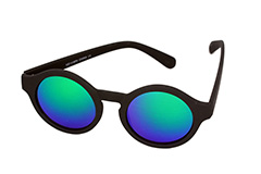 Round sunglasses in black with mirror lenses - Design nr. 1142