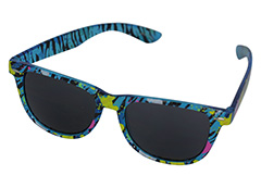 Wayfarer sunglasses in translucent blue