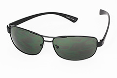 Black sunglasses in simple metal