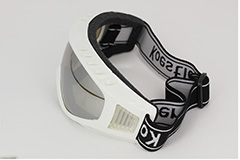 Goggles with mirror lenses, adjustable rubber strap