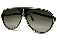 Cheap black aviators / truckers with white stripe - Design nr. 1331