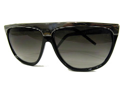 Black vintage sunglasses with silver - Design nr. 1347