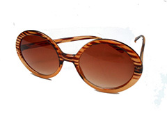Round sunglasses in animal look