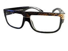 Brown snakeskin non-prescription glasses